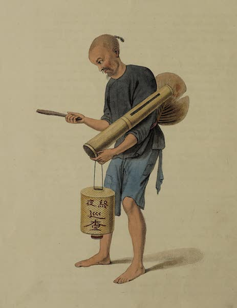 The Costume of China - A Watchman (1800)