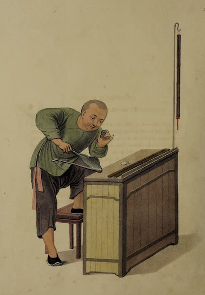 The Costume of China - A Money-changer (1800)