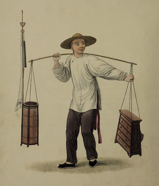 The Costume of China - A Barber (1800)