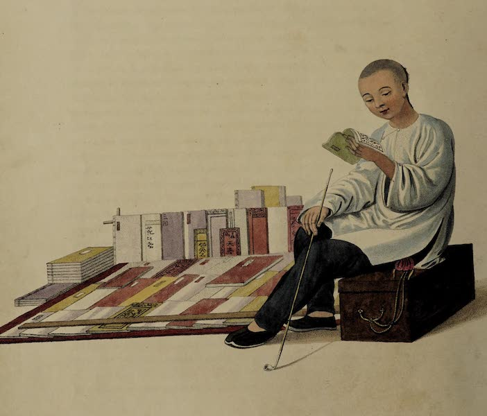 The Costume of China - A Bookseller (1800)