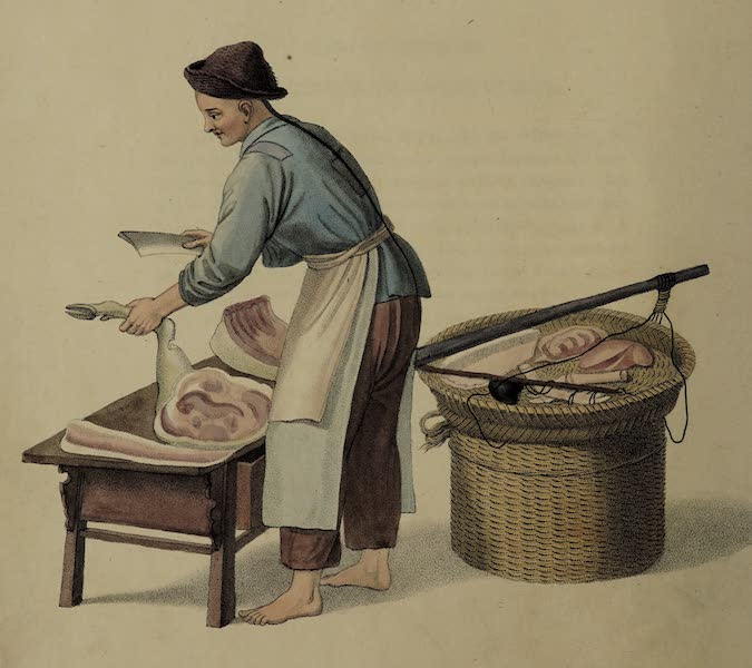 The Costume of China - A Pork-butcher (1800)