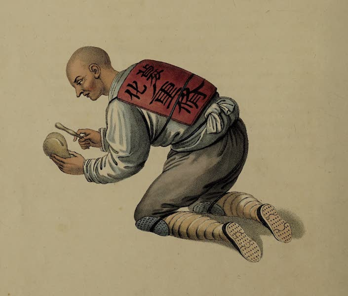 The Costume of China - A Bonzee begging Alms (1800)