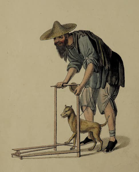 The Costume of China - A Beggar with a Dog (1800)