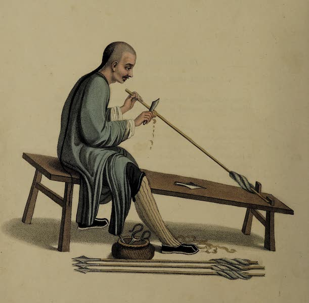 The Costume of China - An Arrow-maker (1800)