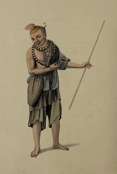 The Costume of China - A Beggar with a Serpent (1800)