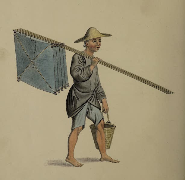 The Costume of China - A Fisherman (1800)