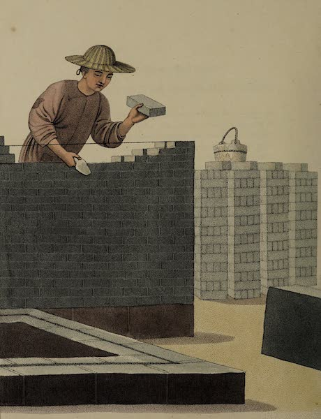 The Costume of China - A Bricklayer (1800)