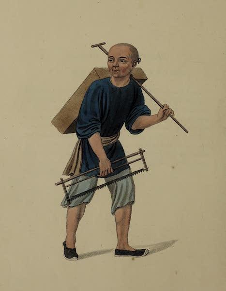 The Costume of China - A Carpenter (1800)