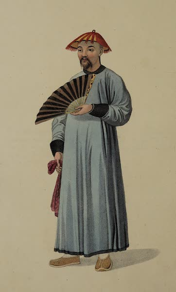 The Costume of China - A Mandarin in his Summer Dress (1800)