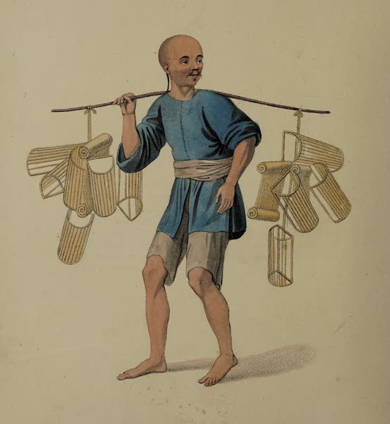 The Costume of China - A Pillow-seller (1800)