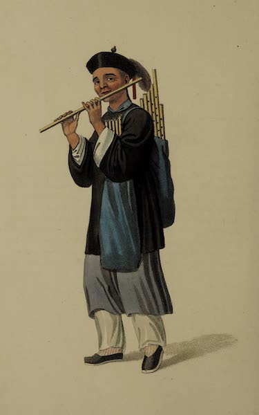 The Costume of China - A Flute-seller (1800)