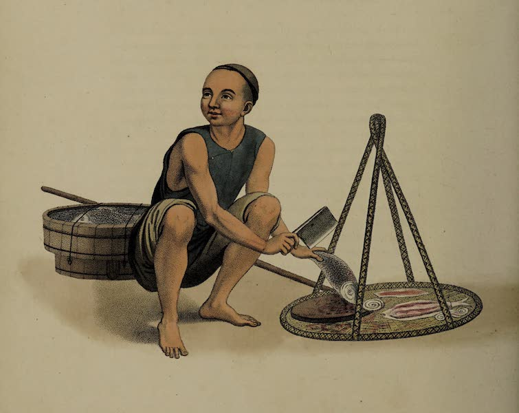 The Costume of China - A Fishmonger (1800)