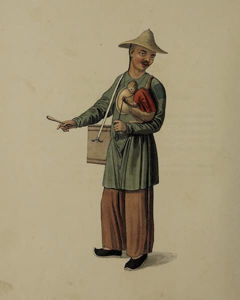 The Costume of China - A Beggar with a Monkey (1800)