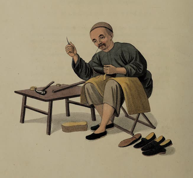 The Costume of China - A Shoemaker (1800)