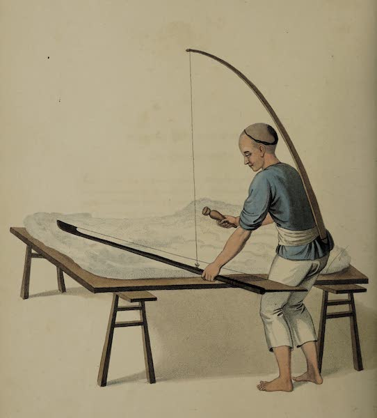 The Costume of China - A Cotton-clearer (1800)
