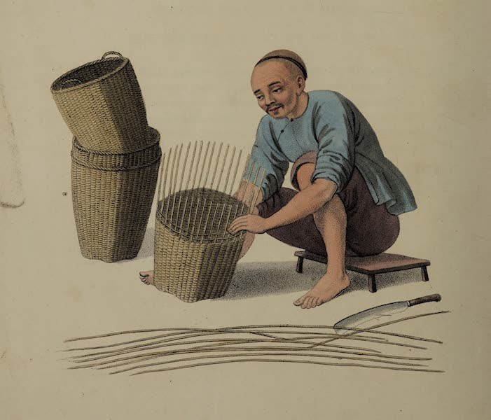 The Costume of China - A Basket-weaver (1800)