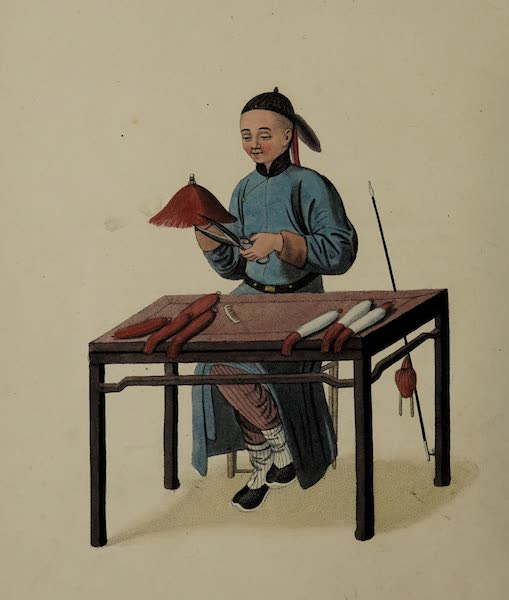 The Costume of China - A Cap-maker (1800)