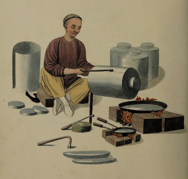 The Costume of China - A Canister-maker (1800)