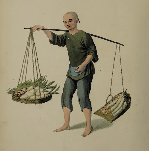 The Costume of China - A Boy with Vegetables (1800)