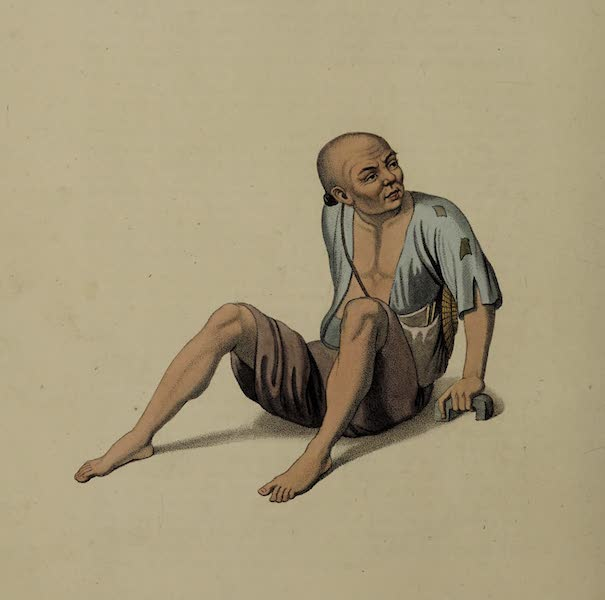 The Costume of China - A Lame Beggar (1800)