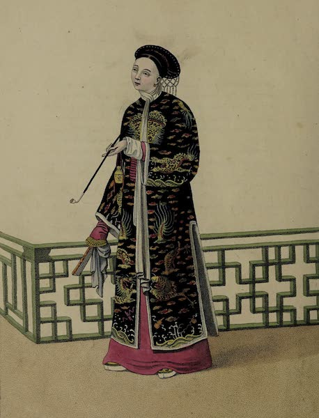 The Costume of China - A Lady of Distinction in her Habit of Ceremony (1800)