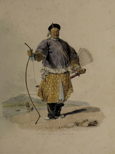 The Costume of China - Portrait of Van-ta-zin (1805)