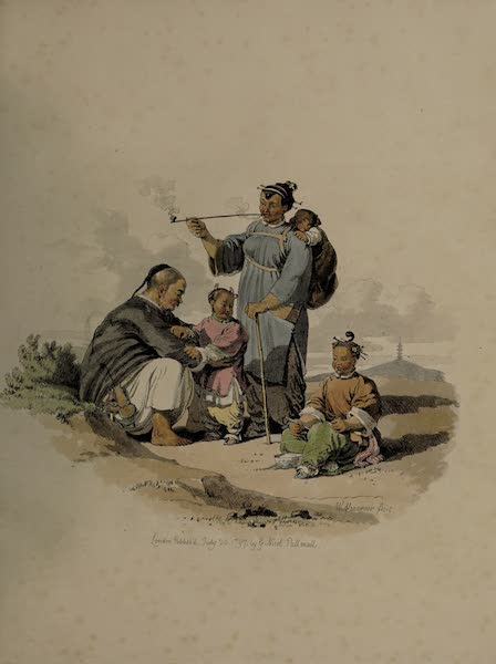 The Costume of China - A Peasant, with his Wife and Family (1805)