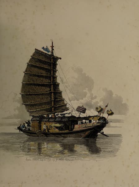 The Costume of China - The Travelling Barge of Van-ta-zin (1805)