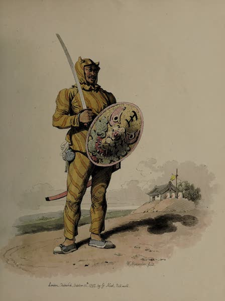 The Costume of China - A Chinese Soldier of Infantry, or Tiger of War (1805)