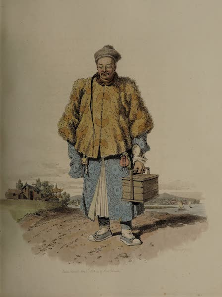 The Costume of China - Portrait of the Purveyor of the Embassy (1805)