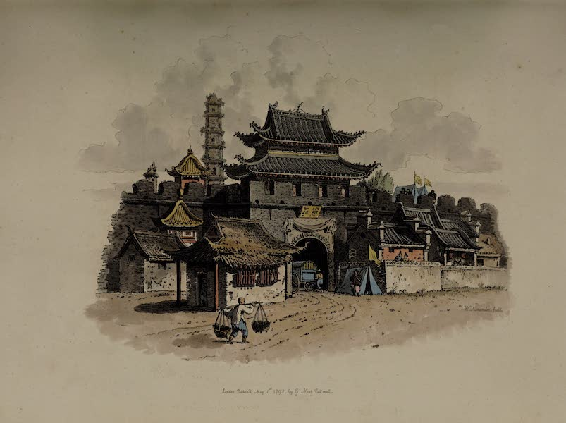 The Costume of China - South Gate of the City of Ting-hai (1805)