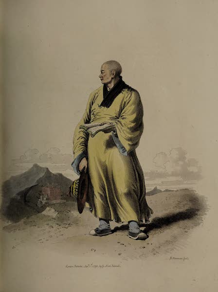 The Costume of China - Portrait of a Lama, or Bonze (1805)