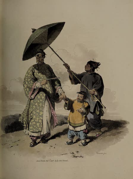 The Costume of China - A Chinese Lady and her Son (1805)