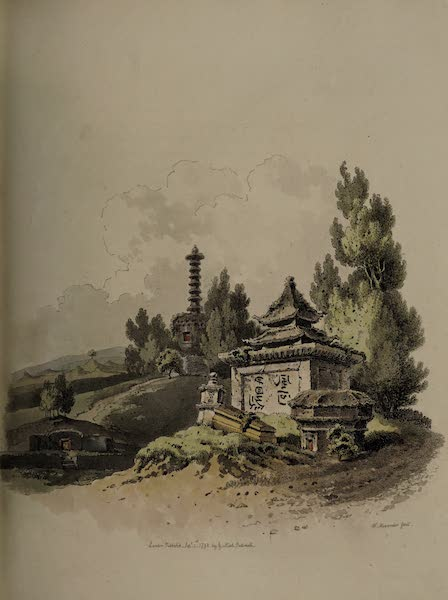 The Costume of China - View of a Burying-place (1805)