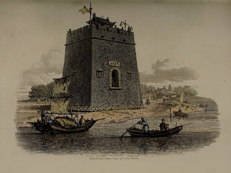The Costume of China - View of a Castle near the City of Tien-sin (1805)