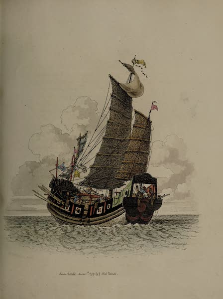 The Costume of China - A Sea Vessel under Sail (1805)