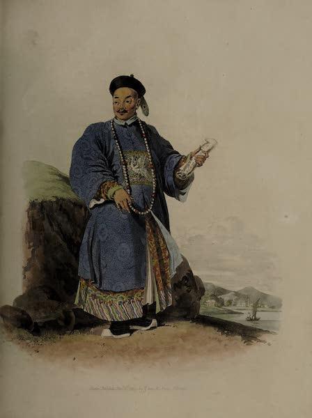 The Costume of China - Portrait of Van-ta-zin in his Dress of Ceremony (1805)