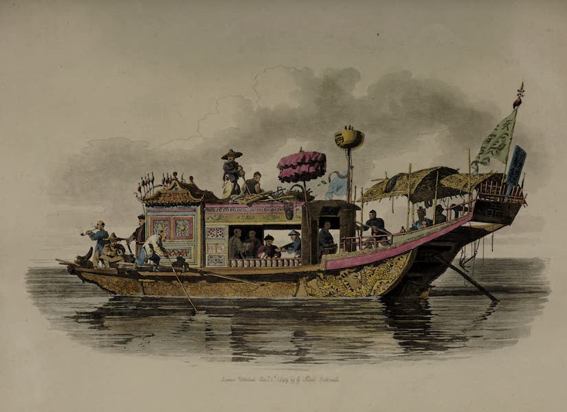 The Costume of China - A Mandarin's travelling Boat (1805)