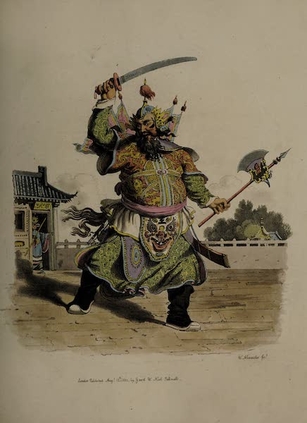 The Costume of China - A Chinese Comedian (1805)