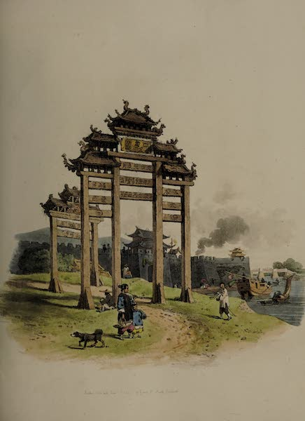 The Costume of China - A Pai-loo, or Triumphal Arch (1805)
