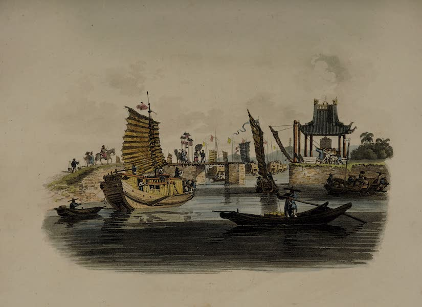 The Costume of China - Vessels passing through a Sluice (1805)