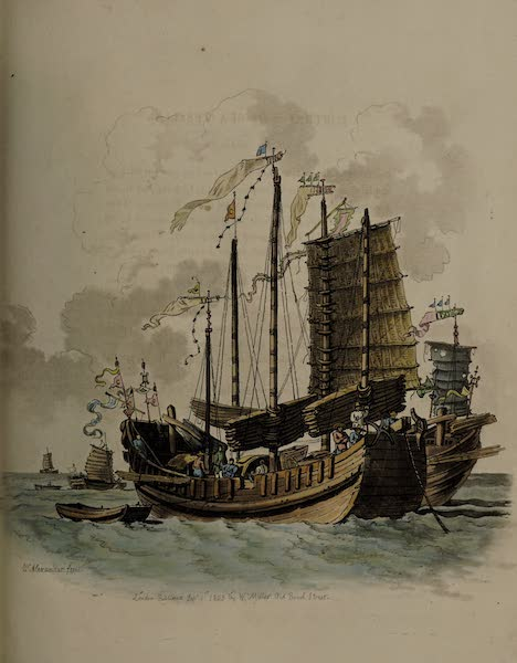 The Costume of China - Portrait of Sea Vessels generally called Junks (1805)