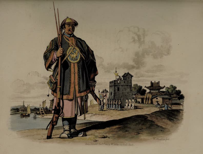 The Costume of China - A Soldier with a Matchlock, (1805)