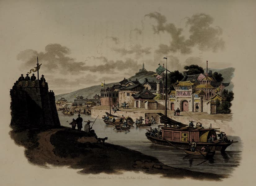 The Costume of China - Suburbs of a City, Canal, &c. (1805)