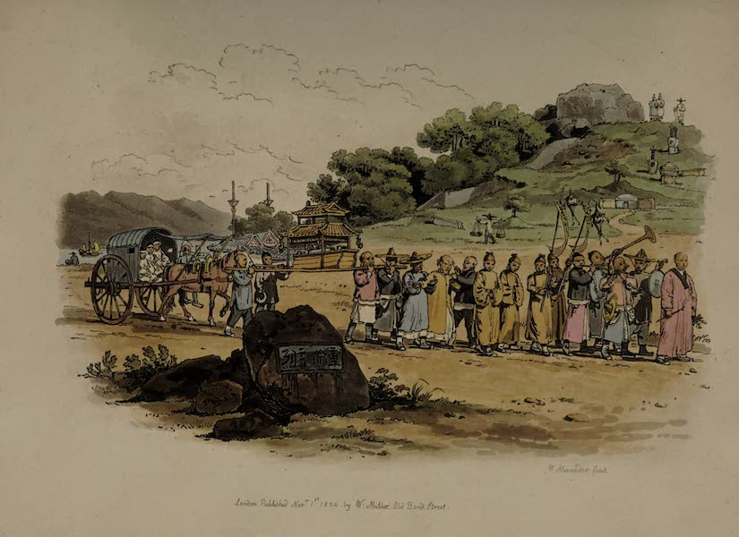 The Costume of China - A Funeral Procession (1805)