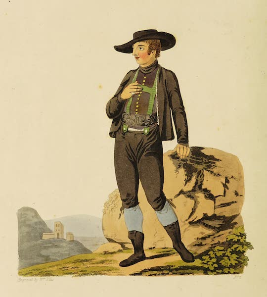 The Costume of the Hereditary States of the House of Austria - A Peasant of Upper Austria [Frontispiece] (1804)