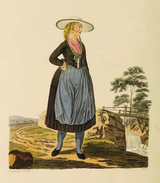 The Costume of the Hereditary States of the House of Austria - A Country Woman of Upper Austria (1804)