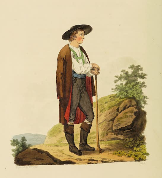 The Costume of the Hereditary States of the House of Austria - A Peasant of Upper Carniola in his Summer Dress (1804)