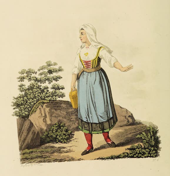 The Costume of the Hereditary States of the House of Austria - A Country Woman of Upper Carniola in her Summer Dress (1804)