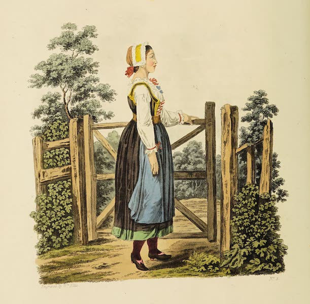 The Costume of the Hereditary States of the House of Austria - A Country Girl of Upper Carniola in her Holiday Clothes (1804)